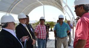 """Inspeccionan Proyecto """"Parque del Deporte"""" en el Estadio Carlos Dittborn"""