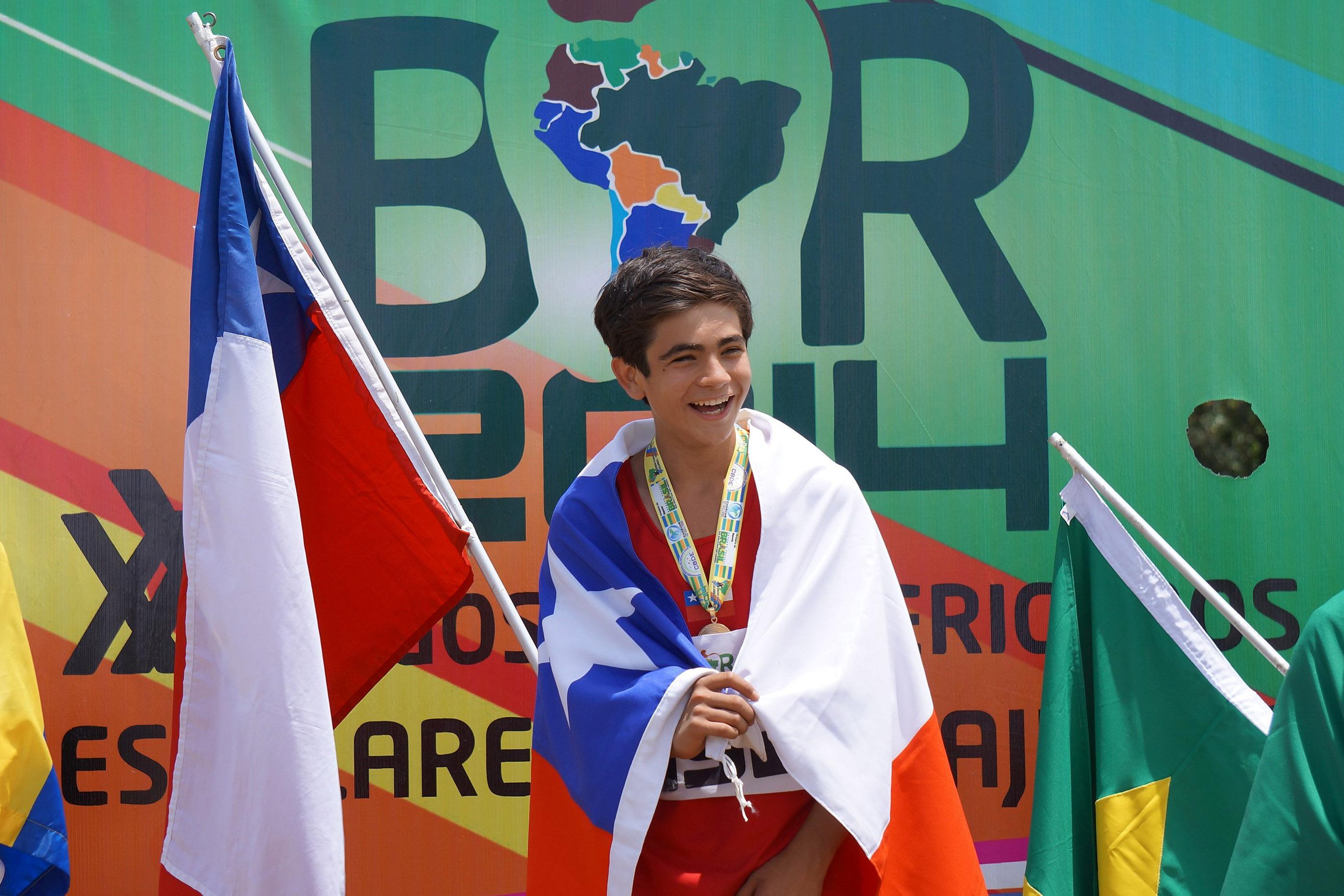 Ariqueño Logra Medalla de Oro para Chile en los Sudamericanos  Escolares en Brasil