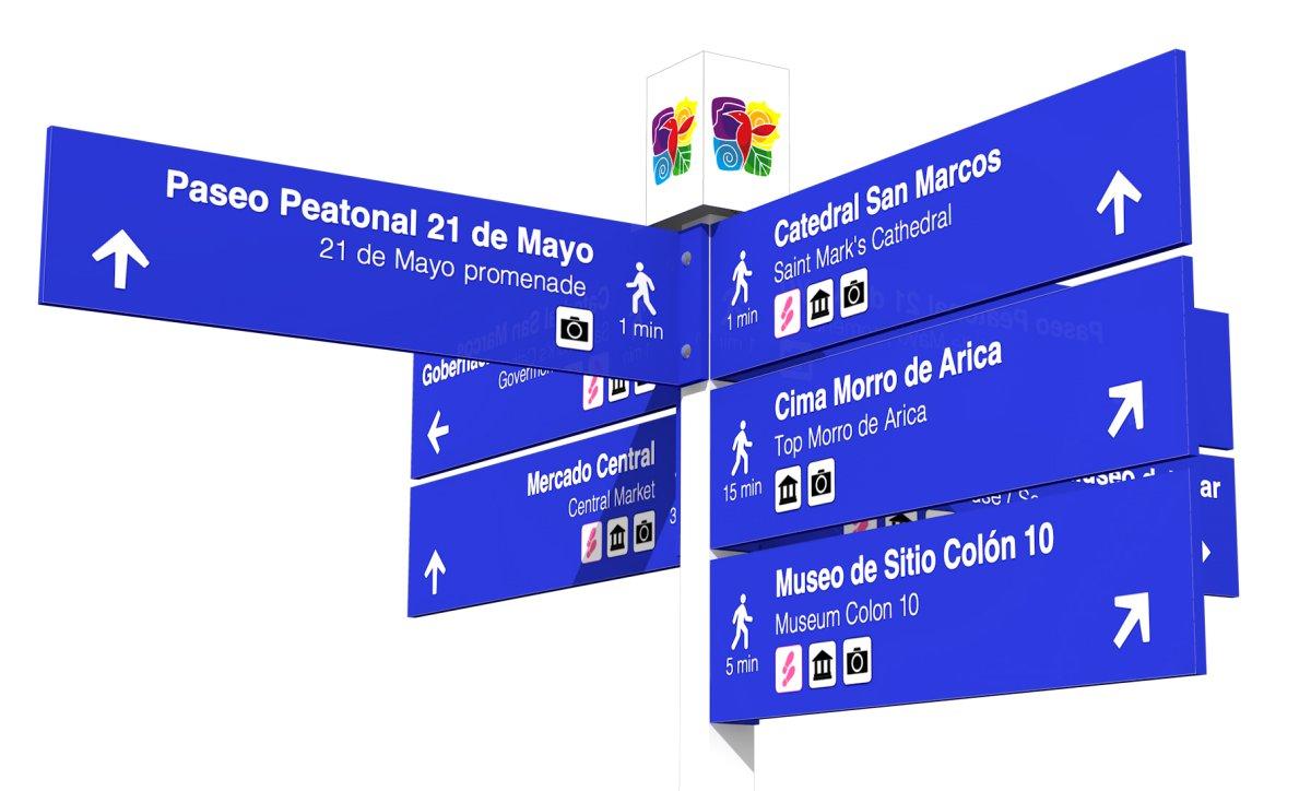 Aporte Turístico: Arica Contará con   Atractiva y Moderna Señalética   Peatonal