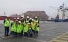 Niños y voluntarios de la Teletón visitaron el Puerto de   Arica