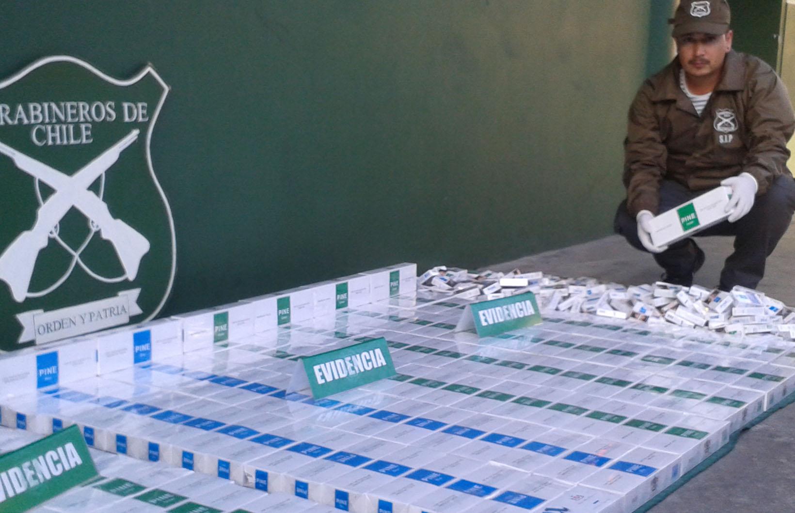Carabineros Incauta Gran Cantidad de Cigarros Importados en Negocio de Sector de Pueblo Hundido