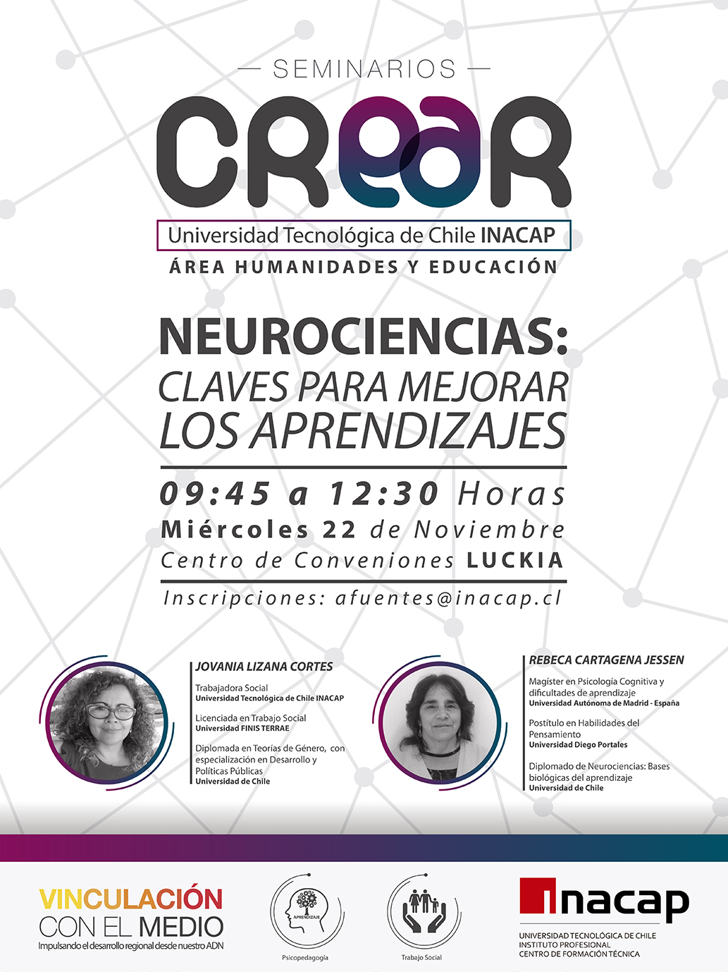 Afiche CREAR Seminario Neurociencia